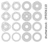 set of celtic knotting rings.... | Shutterstock .eps vector #295056110