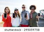 people  friendship  cloud... | Shutterstock . vector #295059758