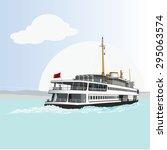 passenger ferry   Shutterstock .eps vector #295063574