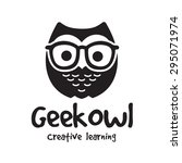 Geek Owl Vector Logo Template