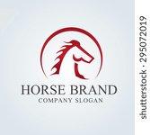 Stock vector king horse vector logo template 295072019