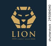 lion vector logo template | Shutterstock .eps vector #295084040
