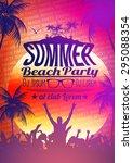 summer beach party flyer design ...