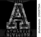 monochrome athletic division... | Shutterstock .eps vector #295097564