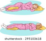 sleeping positions | Shutterstock .eps vector #295103618