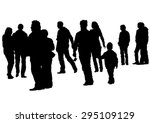 big crowds people on white... | Shutterstock .eps vector #295109129