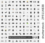 gaming vector sticker icons... | Shutterstock .eps vector #295114838