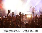 crowd at concert and blurred... | Shutterstock . vector #295115348