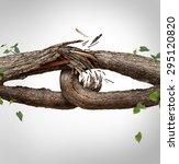 broken chain concept and... | Shutterstock . vector #295120820