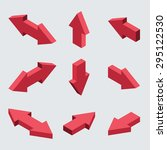 moders set of isometric arrows ... | Shutterstock . vector #295122530