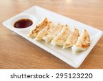 japanese style fried dumpling... | Shutterstock . vector #295123220