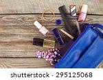 cosmetics and women's... | Shutterstock . vector #295125068