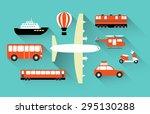 icons vector trucks for travel... | Shutterstock .eps vector #295130288
