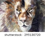 Painting Of Lion Head