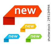 sign new. vector. | Shutterstock .eps vector #295134944