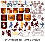 heraldic collection of shields  ... | Shutterstock .eps vector #295139006