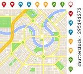 a generic city map of an... | Shutterstock .eps vector #295141373