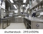 professional kitchen   view... | Shutterstock . vector #295145096