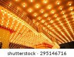 theatre marquee lights  ... | Shutterstock . vector #295146716