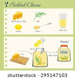 recipe of pickled cheese | Shutterstock . vector #295147103
