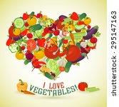 heart made of different... | Shutterstock . vector #295147163