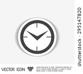 clock. watch sign  icon watch.... | Shutterstock .eps vector #295147820