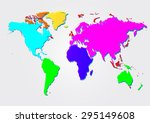 multicolored world map. vector