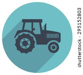 vector flat icon of a tractor   Shutterstock .eps vector #295152803