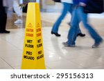 Caution Wet Floor Sign With...