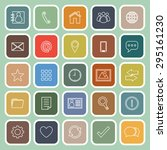 contact line flat icons on... | Shutterstock .eps vector #295161230