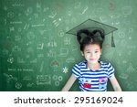 smart educated school kid... | Shutterstock . vector #295169024