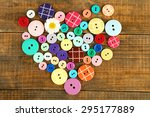 Colorful Buttons In Shape Of...