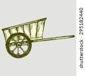 Old Wagon. Vector Image