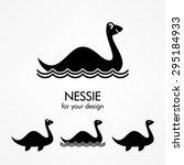 Stock vector nessie icons 295184933