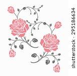Stock vector rose motif vector for design 295186634
