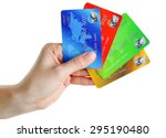 Hand Holding Credit Cards ...