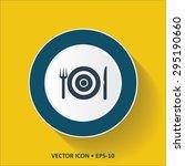 blue vector icon of restaurant... | Shutterstock .eps vector #295190660