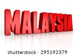3d malaysia text on white... | Shutterstock . vector #295192379