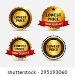 lowest price label set ... | Shutterstock . vector #295193060