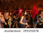 athens  greece   july 5th  2015 ... | Shutterstock . vector #295193378