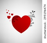 illustration of red hearts with ... | Shutterstock . vector #295196474