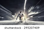 young determined businessman... | Shutterstock . vector #295207409