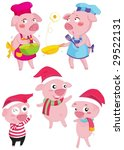 illustration of a pigs | Shutterstock .eps vector #29522131