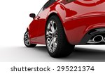 3d rendering of a red car on a... | Shutterstock . vector #295221374