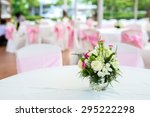 delicate pink roses and pearl... | Shutterstock . vector #295222298