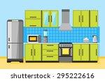 illustration of kitchen... | Shutterstock . vector #295222616