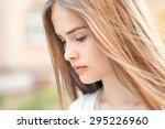 closeup sensual portrait of... | Shutterstock . vector #295226960