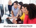 student  classroom  school. | Shutterstock . vector #295227029
