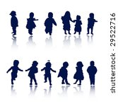 silhouettes   baby | Shutterstock .eps vector #29522716