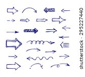 set of blue arrows. doodle ... | Shutterstock .eps vector #295227440